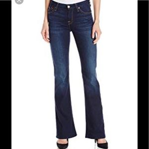 7 for all mankind high waist bootcut blue 31